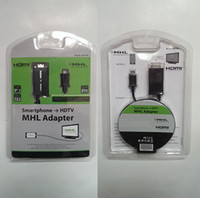 Wholesale Smartphone Hdtv Mhl Adapter Cable - 1.8m Universal HDMI Cable 1080P Micro USB MHL To HDMI Smartphone to HDTV MHL Adapter For Smart cell phone Samsung HTC LG