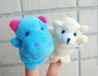 Wholesale EMS Baby Plush Toy finger puppets kind animal finger puppets