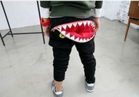 Wholesale New Cotton Trousers Big Mouth Unisex Baby Clothing Sports Pants fit years
