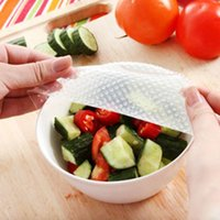 Wholesale Top Quality Reusable Silicone Food Wraps Seal Cover Stretch Multifunctional Food Fresh Keeping Saran Wrap Kitchen Tools