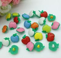 apple apparel - 100pcs mm mix color apple buttons kid s apparel sewing accessories diy garment supplies crafts B044
