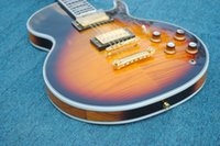 chibson - 2015 New Factory Sunburst finish flame maple Chibson electric guitar Made in China OEM custom electric guitar with pieces neck
