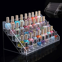 acrylic nail polish stand - HIGH QUALITY Clear Acrylic Beauty Makeup Nail Polish Storage Organizer Rack Display Stand Holder Drop Shipping
