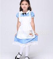 children apparel - Charming Children Halloween Maid Performance Apparel Princes Dress Cosplay Uniform Girl Teenage Dresse Theme Costume Shirt Polyeter Apparel