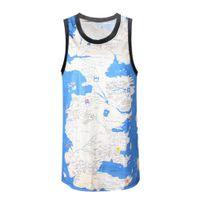 basketball jersey world - New Fashion Women men s High Quality Tank Tops D Print Jersey Vest World Map Sport Basketball Sport Suit Sleeveless Vest