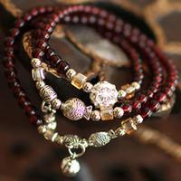 Wholesale Exclusive new multi element bracelet Tibetan silver bell little fish mash female models rich in the day bracelets
