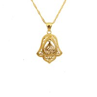 islamic necklace - k gold plated Vintage allah pendant islamic necklace pendant