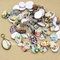 Wholesale 10pcs mixed designs glass Cabochons Glass Dome Seals fitting cabochons setting jewelry DIY F969