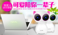 Wholesale Multimedia desktop Computer Speaker Sound Box Laptop Speaker Portable Mini Speaker Player USB Disk Computer cute cat Speaker