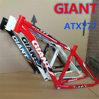 aluminum frame bike road - GIANT Aluminum Alloy Bicycle Frame Custom Bike Frames Mountain Bikes Frames ATX777 Brand Quality Road Bikes Frame A3