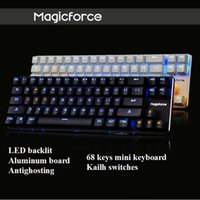 alu pcb - Magicforce Smart Keys Backlit Antighosting USB Mechanical Gaming Keyboard Alu Alloy Kailh MX Blue Black Switches Double PCB