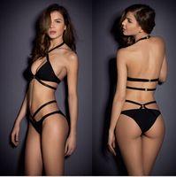 Wholesale Womens Bandage Push up Pieces Bikini Set Padded Bra Triangle Swimsuit Swimwear