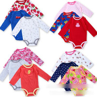 baby romper body - Baby Infants Bodysuits Autumn Newborn Baby One Piece Romper Kids Childs All Kinds of Printed Body Suit Clothing AIO Outwear J3036