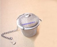 Wholesale Stainless Mesh Sphere Ball Reusable Strainer Herbal Locking Tea Pot Filter Infuser Spoon Locking Spice Ball