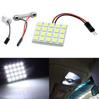 Wholesale White SMD LED Light Panel Car Interior Dome Lamp lm reading festoon led Bulb DHL free ok360