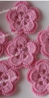 Precio de Cosiendo flores 3d-2015 nuevos remiendos del ganchillo del algodón de la manera 50pic / lot de la llegada para la decoración de la ropa cosen en remiendos el applique 3D florece remiendos del fieltro