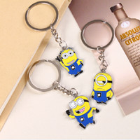 Wholesale Daily Deals Metal Minions Keychains Despicable Me cartoon minion toys alloy Key Rings chains Promotion Christmas Gifts for women children