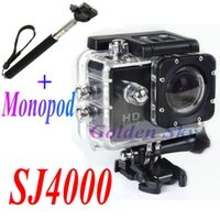 Wholesale SJ4000 Digital Camera Diving M Waterproof P Full HD Helmet camcorder Sports DV Monopod for Gopro Style Small order no tracking