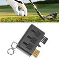 Wholesale Useful in Portable Small Pocket Carry Golf Ball Club Brush Groove Cleaner Kit Black