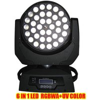 Wholesale DHL Free Zoom wash moving head light RGBWA UV Osram Led W in Moving Head Wash Light with LCD touch screen For Dance Halls Disco