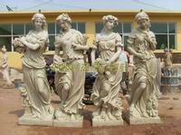 antique garden statues - four season godness statue garden docoration european style godness carvings clay sculpture