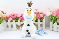 Wholesale 2015 New cartoon movie Lovely OLAF plush toys the Snowman Plush Doll Stuffed Toy cm