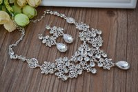 china christmas - YiWu Wedding Jewelry Sets The bride diamond lowest price Christmas gift Sterling Silver Fashion Necklace Earrings set S74