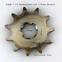 Wholesale High Performance Motorcycle ATV Dirtbike Front Sprocket T mm Size Teeth For Cheap Sale