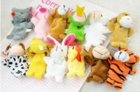 Wholesale Funny12Pcs Two Zodiac Animals Baby Educational Toy Mixed Animal Puppet Set Finger Doll Cute Kids Learning Toy