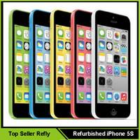 Wholesale Unlocked Refurbished Apple iPhone C Cell Phone IOS8 inch IPS GB GB Smartphone VS iPhone S Samsung Galaxy S6