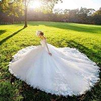 designer wedding dresses - A Line Wedding Dresses Designer Bateau Backless Plus Size Beach Vintage Wedding Dresses Spring Bridal Gowns New Arrival