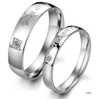african novels - Foreign Trade jewelry Korean version new novel and unique diamond titanium steel couple rings GJ310