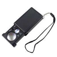 Wholesale 30X X mm mm Double Lenses Magnifier Loupe Pull Type Jewelry Magnifying Tool with LED UV Lights Microscope