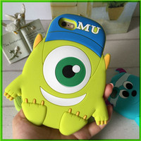 animal cell phone covers - For Apple Iphone Iphone plus Cell Phone Cases One Eyed Monster Shell Phone Cartoon Animal Mobile Case Covers