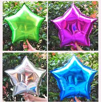 alluminum foil - Free Ship inch Five Point Star Promotion Toy Foil Balloons Party Decoration Alluminum Balloons