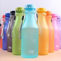 glass soda bottle - 550ML unbreakable frosted glass soda bottle lid creative portable leak proof cups plastic water bottles can be printed