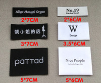 Wholesale Custom garment clothing Woven Labels customised polyester collar damask main label with brand logo cloth label