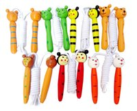 Wholesale Kids Children s Wooden Handle Skipping Rope Animal Colourful Cartoon Zoo Figures Brand New Good Quality