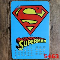 Cheap Super Man Vintage Metal Signs Home Decor Vintage Tin Signs Pub Vintage Decorative Plates Metal Wall Art 20*30cm