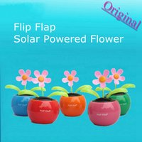 Octa Core solar dancing toys - 200pcs HDL Novelty Toys Car Decor Flap Flip Solar Powered Flower Flowerpot Swing Solar Dancing Toy Ornaments