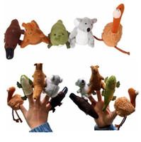 australian baby toys - 400pcs children puppets Soft Plush Australian animal finger puppets Finger Hand Puppets Puppet baby puppet dolls toys Fedex UPS Ship