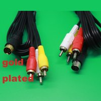 audio cable uk - Gold Plated AV RCA Audio Video Cable TV Lead for SEGA SATURN Console Euro UK PAL
