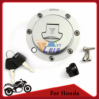 Wholesale Motorcycle CNC Tank Cover Fuel Gas Cap Cover Fuel Tank Cap Locking Door for Honda CBR250 xx BROS400 bros650 order lt no trac