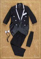 Wholesale 2015 New Arrival Tuxedo Boys Kids Tuexdo Suit Kids Boys Wedding Clothes Coat Pants Tie Girdle For Boys Formal Wear