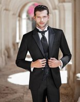 arab vest - New Collection Of Cultivate One s Morality Black Arab The Bride s Wedding Suit Best Man Suit Jacket Pants Vest