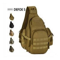Wholesale School Bag Carrier - Wholesale-New MOLLE System Single Shoulder Crossbody Chest Bag School Hunting Heavy Duty Carrier Tactical Sport Survival Military Pack