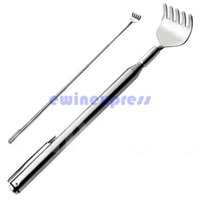 Wholesale New Arrival Extendable Stainless Steel Telescoping Back Scratcher Extend quot Pen Pocket Clip Drop Shipping