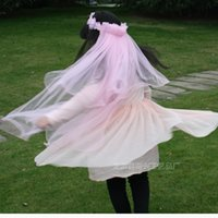 Wholesale New Wedding Girls Head Pieces Long Veils Colors Children s garlands veil for all kinds Patries