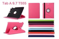 Wholesale 360 Rotating PU Leather Stand Smart Case Cover For Samsung Galaxy Tab A T555