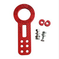 Wholesale 2015 New Popular Automobiles Towing Hooks Billet Aluminum Racing Front Tow Hook Kit CNC JDM Anodized Red